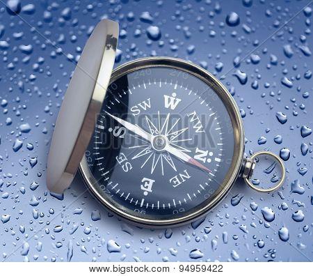 Golden Vintage Compass
