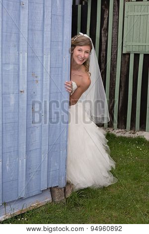 Cheeky  Bride Playing With The Camera