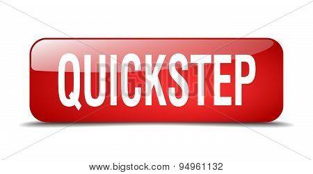 Quickstep Red Square 3D Realistic Isolated Web Button