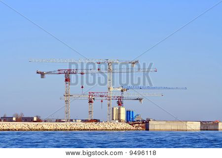 Under construction of Petrochemical plant, Venice