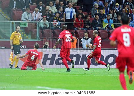 Uefa Europa League Final Football Game Dnipro Vs Sevilla