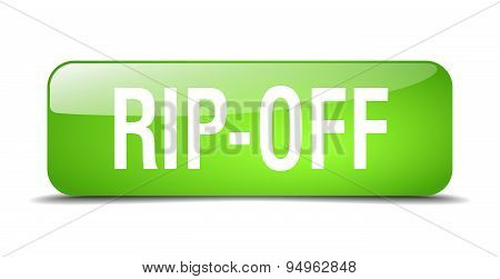 Rip-off Green Square 3D Realistic Isolated Web Button