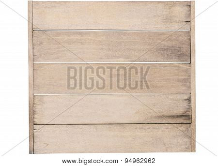 Wooden Panel Background Isolated