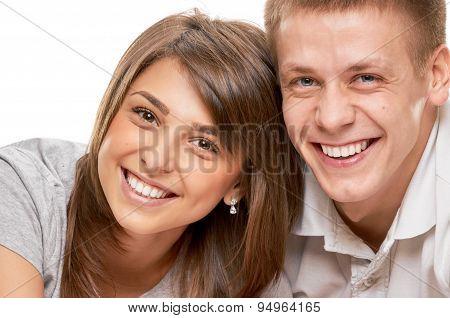 Couple close portrait