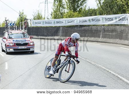The Cyclist Yury Trofimov - Tour De France 2014