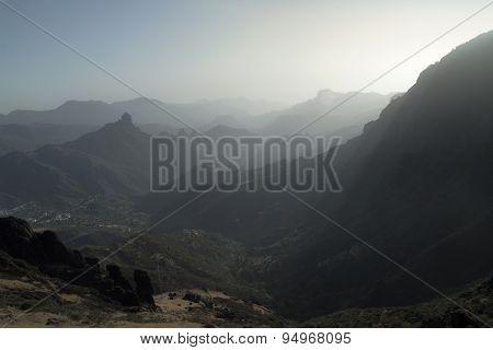 Gran Canaria, Caldera De Tejeda, Late Afternoon Light