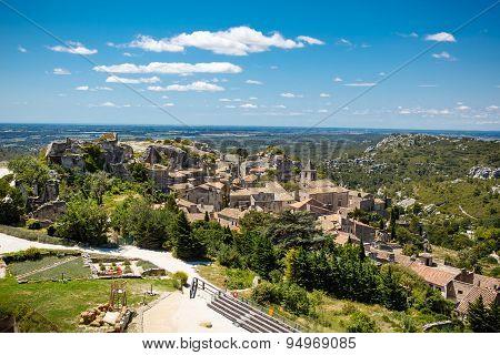 Castle Les Baux De-provence, Provence, France On Warm Sunny Day