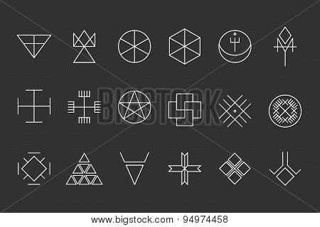 Set Of Geometric Hipster Shapes13
