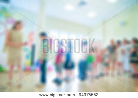 Kids activity animation blur background