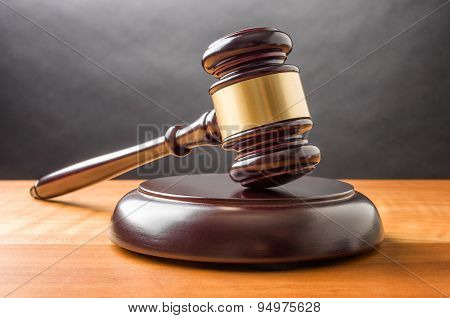 A Wooden Gavel