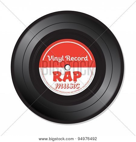 Rap music vinyl record