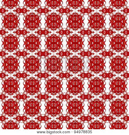 Seamless pattern red white