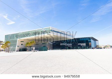 The modern building of Museum of European and Mediterranean Civilizations (MuCEM), Marseilles