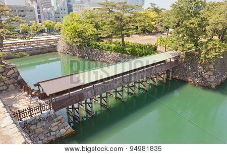 Saya-bashi Bridge Of Takamatsu Castle, Shikoku, Japan