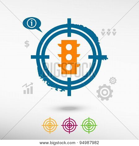 Stoplight On Target Icons Background
