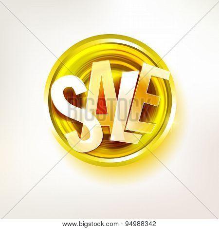 Gold Sale Message Label