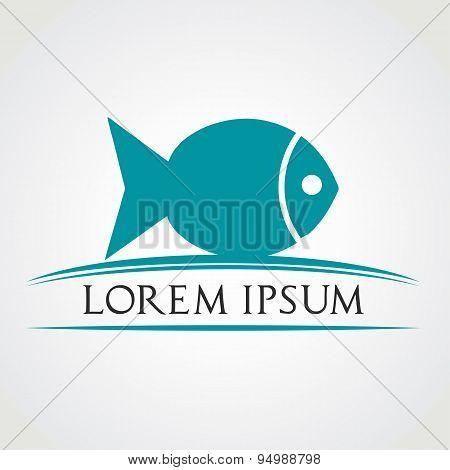Fish symbol. Vector illustration.