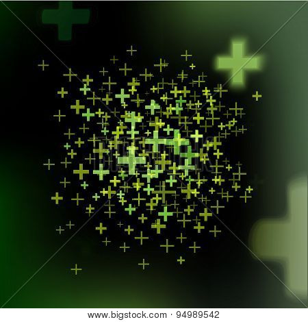 Dark Colors Vector Background With Pluses