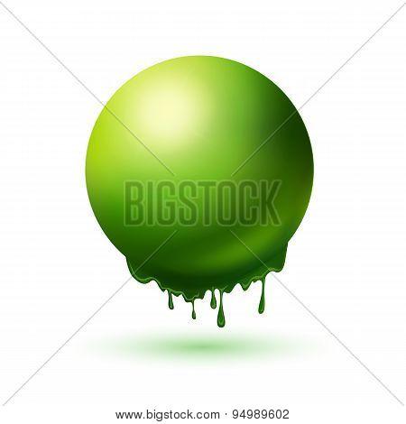Melting Green Sphere Concept