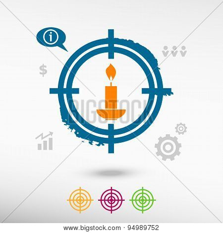 Candle On Target Icons Background