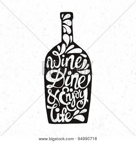 Bottle Shaped Quote