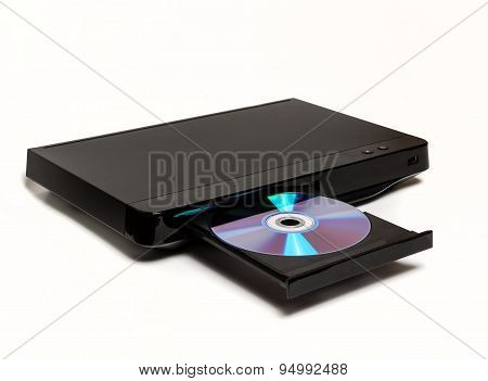 DVD CD MP3 JPEG player isolated on white background