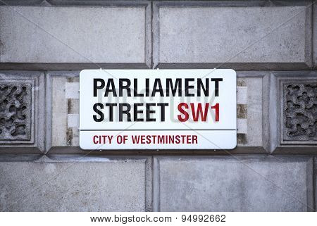Parliament Street In London