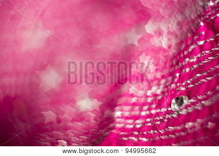 Blurred Pink Textile With Strasses