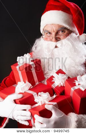 Santa With Giftboxes