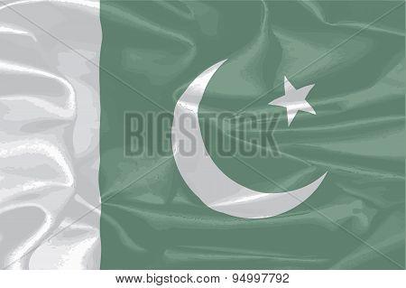 Pakistan Silk Flag