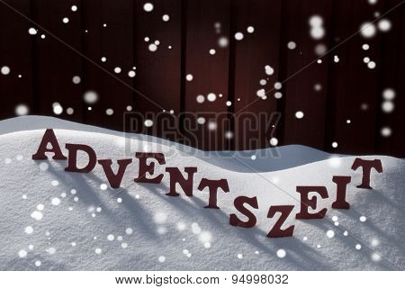 Adventszeit Mean Christmas Time On Snow Snowflakes