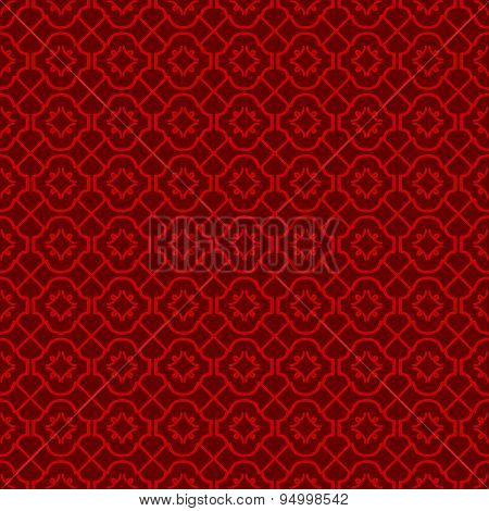 Seamless vintage Chinese window tracery cross line diamond pattern background.