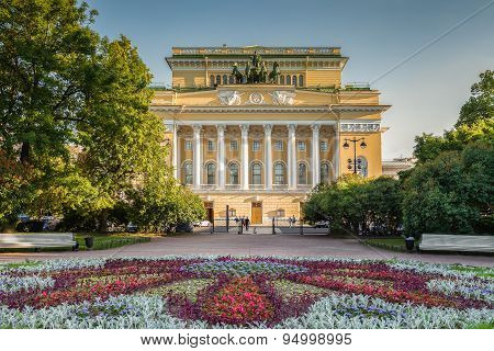Alexandrinsky Theatre In Saint Petersburg