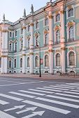 picture of winter palace  - The building of Hermitage and Winter Palace in St - JPG