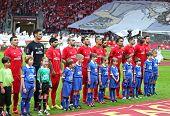 Постер, плакат: Uefa Europa League Final Football Game Dnipro Vs Sevilla
