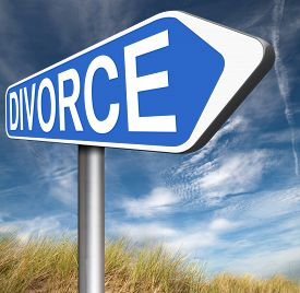 pic of divorce-papers  - divorce papers or document by lawyer to end marriage dissolution often after domestic violence alimony   - JPG