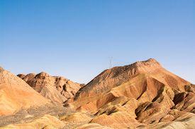 stock photo of landforms  - Danxia landform in Zhangye - JPG