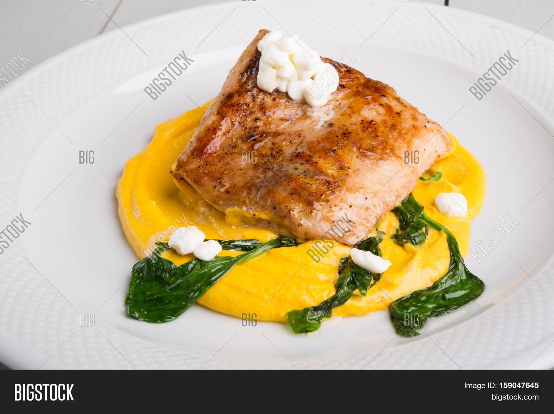 Fried fish fillet yellow humus image photo bigstock for Fried fish fillet