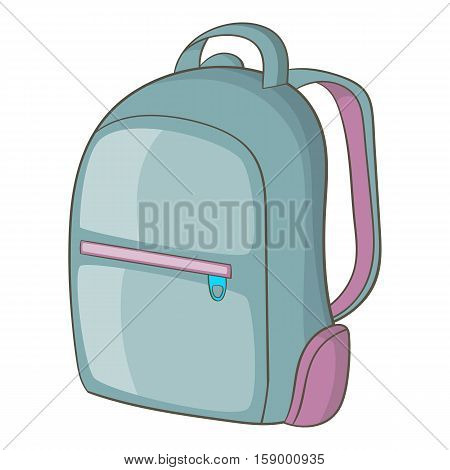 Backpack icon. Cartoon illustration of backpack vector icon for web