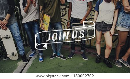 Join Us Togetherness Team Friendship Word Concept