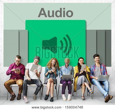 Audio Podcast Music Multimedia Broadcast Concept