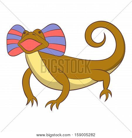 Desert lizard icon. Cartoon illustration of desert lizard vector icon for web