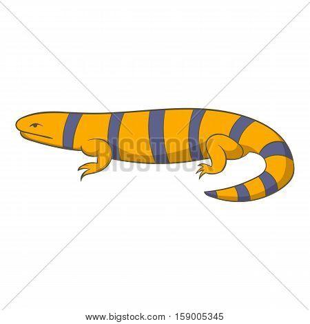 Yellow lizard icon. Cartoon illustration of yellow lizard vector icon for web