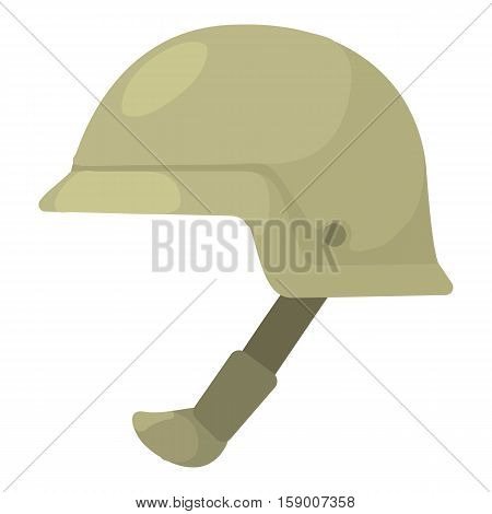 Soldier helmet icon. Cartoon illustration of soldier helmet vector icon for web
