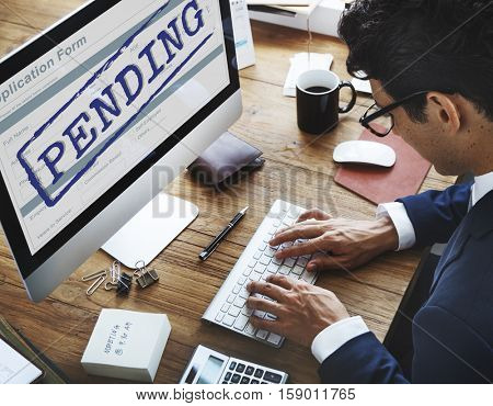 Pending Stamp Application Form Concept