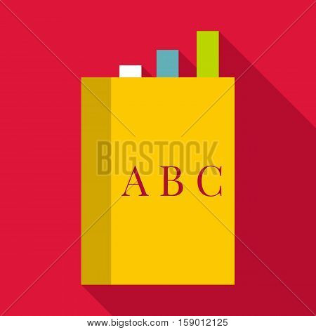 English book icon. Flat illustration of english book vector icon for web