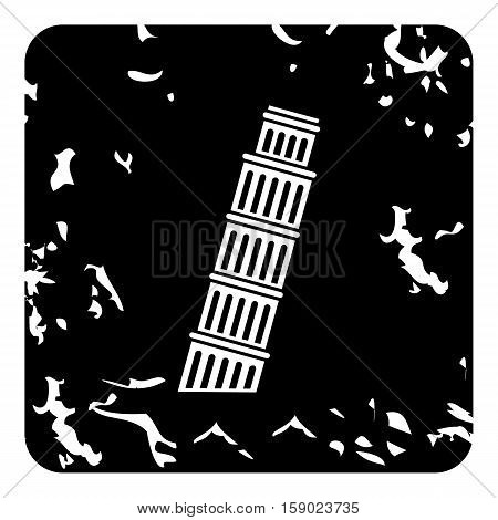 Pisa Tower icon. Grunge illustration of Pisa Tower vector icon for web