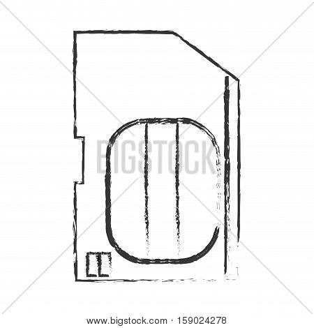 sim card icon. Device gadget technology and electronic theme. Isolated design. Vector illustration