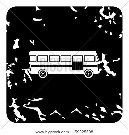 Bus icon. Grunge illustration of bus vector icon for web