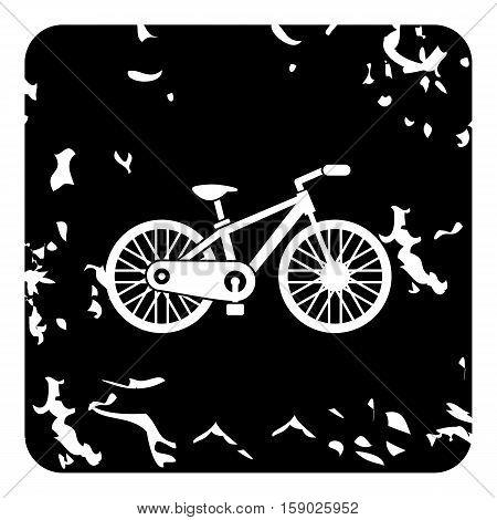 Bike icon. Grunge illustration of bike vector icon for web